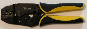 Titan Crimping Tool For Insulated Electrical Connectors Ratcheting Wire Crimper