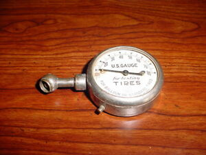 Vintage U S Dial Tire Gauge Model A Ford T Chevrolet Packard Buick 0 80 Lbs