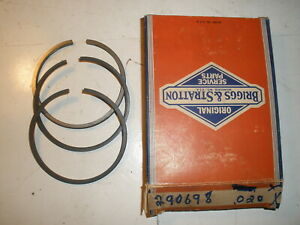 Vintage Nos Briggs Stratton Gas Engine 020 Over Ring Set 290698