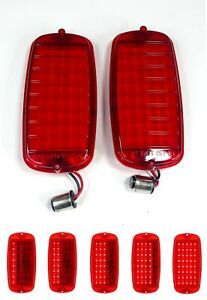 Pair Led Sequential Tail Lights For 1960 66 Chevy Gmc Fleetside Pickup Truck