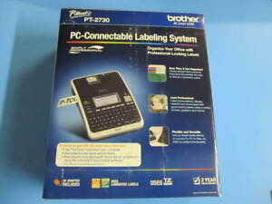 Brother P touch Pt 2730 Label Thermal Printer Pc Connectable Labeling System