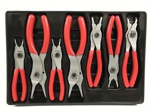 7pc Snap On Srpc107 Retaining Ring Pliers Set Srpc3800 To Srpc9090a Red