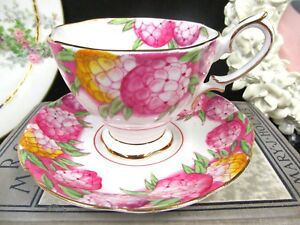 Royal Albert Tea Cup And Saucer Candytuft Painted Pink Floral Teacup Set