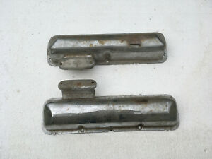 1963 64 427 Galaxie 2x4 Original Valve Covers With1960s Breathers With Patina