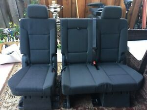 2017 Chevy Suburban 2nd Row Bench Black Cloth