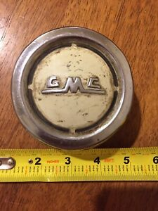 1957 1958 1959 Gmc Pickup Truck Original Horn Cap Metal Tin Button 57 58 59 Oem