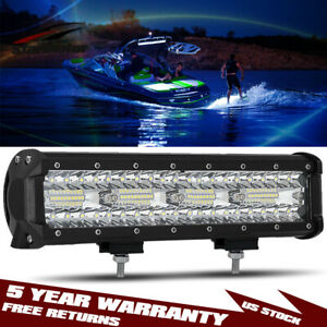 1x 12inch 800w Spreader Led Deck marine Waterproof Light For Boat 12v 24v Vs 18w