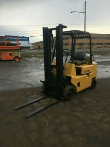 Hyster 5000 Cap Propane Forklift 10 Lift 42 Forks Cushion Tires Compact hd
