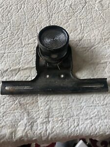 Antique Model T Ford Style License Plate Bracket With Glass Tail Light Lens