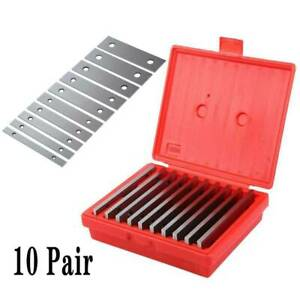 10 Pairs Parallel Set 1 8 Thin Steel Precision 0 0002 Milling Or Marking box