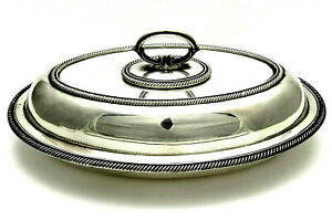 Hawksworth Eyre Antique Silverplate Covered Casserole Serving Dish Sheffield