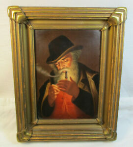 Antique Kpm Night Smoker Porcelain Plaque By Wagner 603