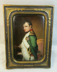 Antique Kpm Napoleon Porcelain Plaque By Wagner 605