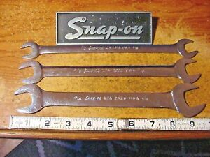 3 Snap On Lta 15 Offset Low Torque Slim Line Open End Wrenches Made In The Usa