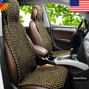 Car Seat Cover Cushion Auto Vehicle Wooden Massage Beads Summer Cool Seat Azw