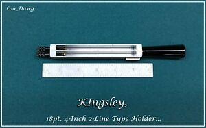 Kingsley Machine 18pt 4 inch 2 line Type Holder Hot Foil Stamping Machine
