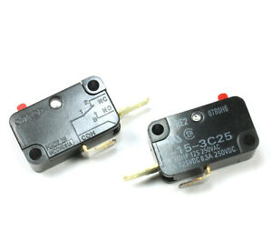 2pcs Omron Micro Switch Snap Action Spst Mpn V 15 3c25 15a 250vac