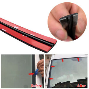 3meter T type Rubber Car Windshield Edge Moulding Sealing Strip Soundproof Black