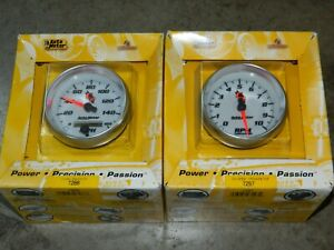 New Autometer Set 7297 7288 In Dash 3 3 8 Electric Tachometer Speedometer