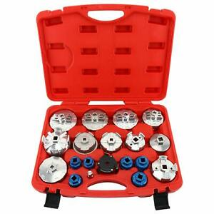 19pc Aluminium Alloy Oil Filter Cup Wrench Set Removal And Installation Tool