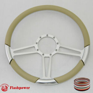 15 5 Billet Steering Wheel Tan Half Wrap Firebird Gto