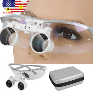 2 5x 360 580mm Dental Surgical Loupes Binocular Glass Magnifier Magnifying Case