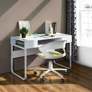 Home Office Laptop Writing Desk Table With Open Drawers Storage 110 55 75cm Size