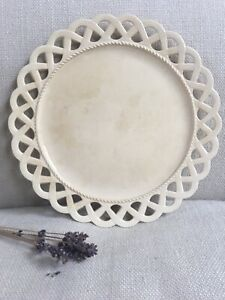 Antique English Wedgwood Creamware Reticulated Plate