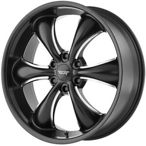18 Inch F150 Expedition 6 Lug 6x135 Black N Milled Wheels 18x8 5 30mm 4 Rims