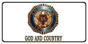 American Legion God And Country Photo License Plate