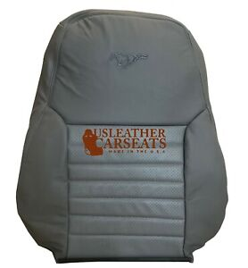 1999 2004 Ford Mustang Gt V8 Driver Lean Back Perforated Leather Seat Cover Gray