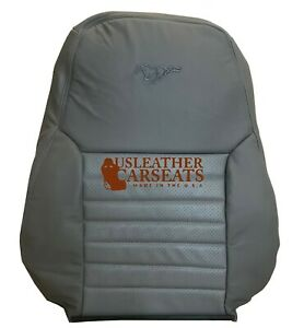1999 2004 Ford Mustang Saleen S281 Driver Side Lean Back Leather Seat Cover Gray