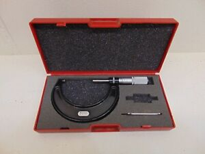 Starrett No 436 2 3 In Micrometer T436xfl 3 With Case