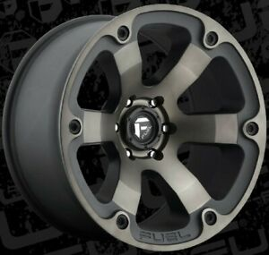 20 Inch 6 Lug 6x135 Black Machined Lifted F150 Wheels 20x10 18mm 4 Fuel Rims
