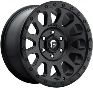 18 Inch Silverado 6 Lug 6x139 7 6x5 5 Matte Black Wheels 18x9 20mm 4 Fuel Rims