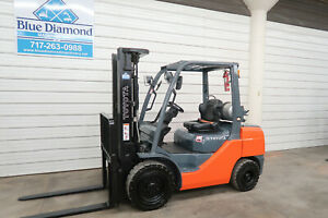 2014 Toyota 8fgu30 6 000 Pneumatic Tire Forklift Lp Gas 3 Stage Sideshift