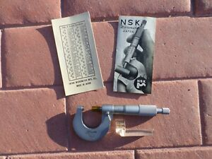 Nsk Lafayette 0 1 Inch Magnifing Outside Micrometer 0001 Increments Japan