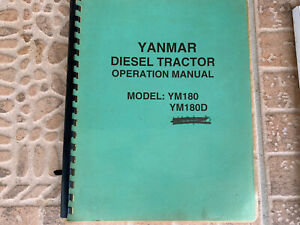 Yanmar Tractor Ym180 Ym180d Owners Operation Service Manual