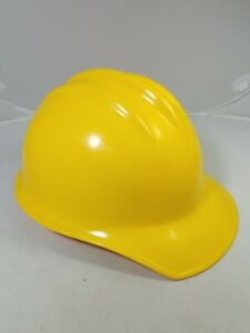 Vintage Ed Bullard Yellow Plastic Hard Hat Safety Helmet Hard Boiled Made In Usa