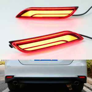 2x For Toyota Camry 18 Led Brake Light Rear Warning Bumper Fog Lamp Decoration