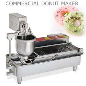 6 Kw Commercial Automatic Donut Fryer Maker Making Machine Donut Robot 3 Mold