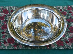 Towle Large Sterling Silver Round Fruit Bowl 12 Monogram