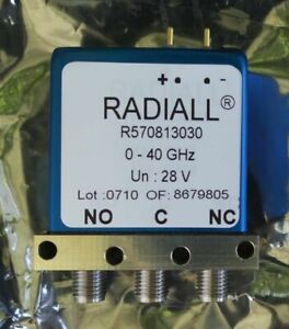Radiall R570813030 Rf Coaxial Switch 0 40 Ghz