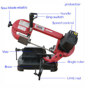 0 60 Metal Sawing Cutting Machine Band Saw Woodworking Cut Metal Plastic Wood