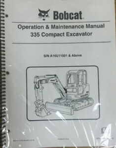 Bobcat 335 Compact Excavator Service Manual Operator Book Part 6904775 Set