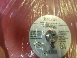 New Potter Electric Signal Pba 12010 10 Inch 120 Volt Red Bell Fire Alarm