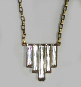 Antique 1920s Art Deco Stepped Mirrored Glass Necklace