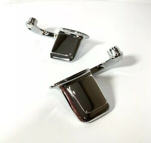 Pair Chrome Interior Door Handles Right Left Side For 1959 67 Full Size Gm Car