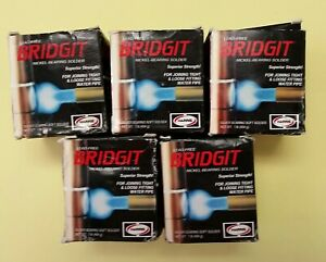Bridgit Solder Lot Of 5 Lead free Silver Nickel Bearing Solder 1 8 Dia Brgt61