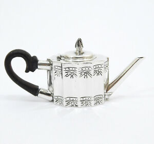 William B Meyers Sterling Silver Paul Revere Tea Pot Miniature Rare Exceptional
